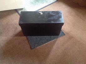 Substantial lockable steel box / motorhome safe