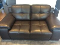 Brown Leather sofa (New) Violino