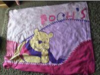 Pair of children's soft fleece blankets, clean, vgc Spider-Man & Winnie the Pooh - Wirral