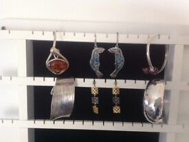 STERLING SILVER CUFF BANGLES (Four)