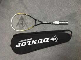 Brand new with carry case. Dunlop Fury Squash Racquet
