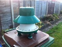 Large Green and white plastic chicken feeder