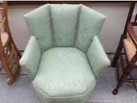 Unusual Edwardian upholstered chair