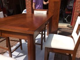 dining table from Malaysiaplus 4chairs, Part fabric