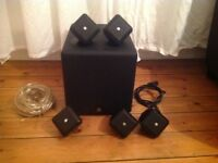 Boston acoustics soundware xs se 5.1 cinema surround sound system subwoofer speakers