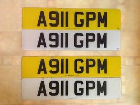 A911 GPM Vehicle Registration number on Retention Certificate.