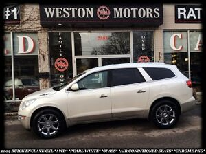 2009 Buick Enclave CXL *AWD *PEARL WHITE *LEATHER *SUNROOF *BT *