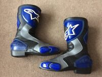 Alpinestars Motorcycle boots in Black/Blue, Euro Size 41 (UK 7-8) - FOR SALE