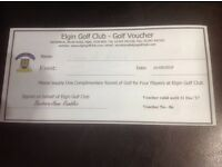 Elgin Golf Club Voucher for 4 Players