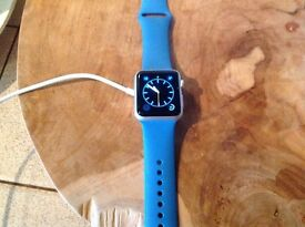 Apple Watch. First edition. 38 mm. blue.
