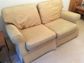 Laura Ashley sofa, colour 'gold', been in the family since the nineties, very serviceable condition