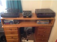 Custom built DJ tabletop stand/box