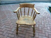 Antique captains chair solid oak