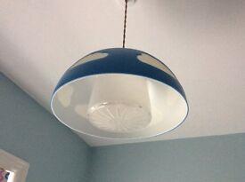 IKEA lampshade (blue sky design, plastic, 4 pieces)