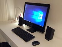 "All in one PC Intel i5 - 4GB Ram - 21"" - Black - Plus Wireless keyboard & Mouse - Speakers"