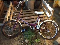 1970s folding bike very collectable