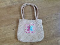 Kids Straw Bag with Butterfly Design