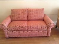 2 Seater Sofa covered in Colefax & Fowler pink & gold fabric
