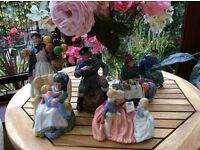 Six Royal Doulton figures