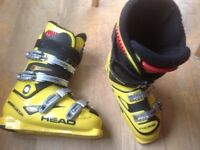 Ski Boots, Head World Cup Junior, yellow, size 7 - 7.5