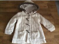 Baby Girls Hooded Fleece Lined Cardigan Size 12-18 Months