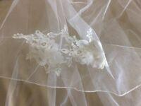 Long white veil
