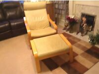 IKEA POANG chair and matching footstool