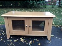 Next set of 3 Birch Living room furniture - Large coffee table, TV & Audio unit and occasional table
