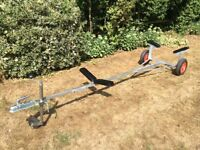 Boat Launching Trolley / Trailer - Like New, Adjustable, Pneumatic Tyres, Jockey Wheel and Tow Ball