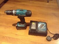 Makita18V Combo Drill with charger, 3AH Battery