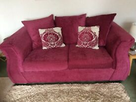 2 Seater Fabric Sofa and Cuddle Chair