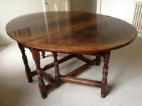 Titchmarsh and Goodwin solid oak dining table.