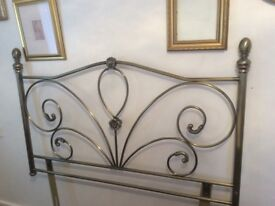 Double headboard burnished gold metal