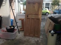 Reclaimed stripped pine doors