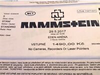 Rammstein tickets Prague 29.05.2017