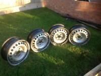 VW T5 steel wheels