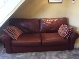 Large Mark Webster Leather Sofa from Fenwicks