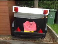 WOODEN BOX TRAILER WITH COVER 4x3x2 Ideal for camping etc. reduced to£120