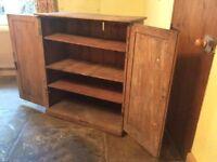 Antique Pine Cupboard Victorian Period Rustic