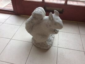 Concrete garden squirrel ornament