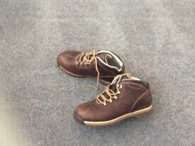 Boys Timberland brown boots size 3.5