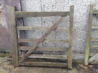 4ftx4ft 5 Bar Wooden Farm Field Entrance Pathway Gate