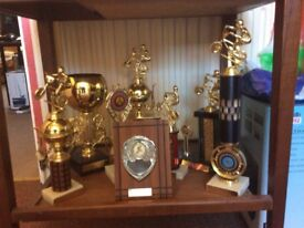 A selection,over 40;Trophies,shields,and medals,mostly BMX,for sale.
