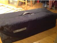 Mamas and papas travel cot. Very good condition. Folds into handy bag for easy carriage and storage.