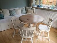 Farmhouse style dining/kitchen table & chairs
