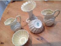 1960's Belleek fine Irish Shell porcelain china set