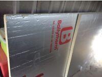 1 x foil board 2400x1200x50, 1 x part used foil board approx 1200x1200x50