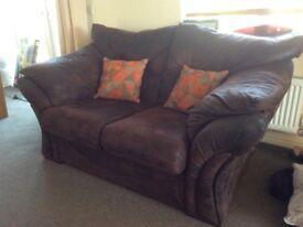 2 seater sofa excellent condition dark brown