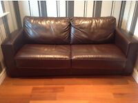 Dark Brown Leather La-z-boy Bed Settee