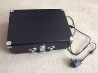 Modern portable record player.